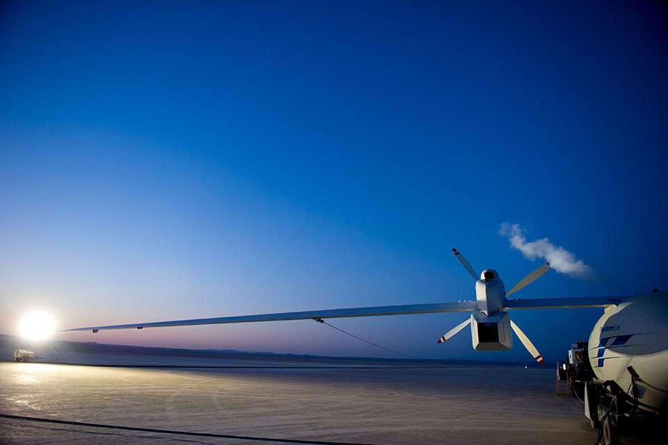Le Phantom Eye de Boeing, un drone capable de voler à haute altitude durant 36 heures. © Boeing
