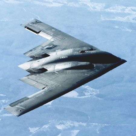 Le bombardier furtif B2-A Spirit. Crédit Nasa