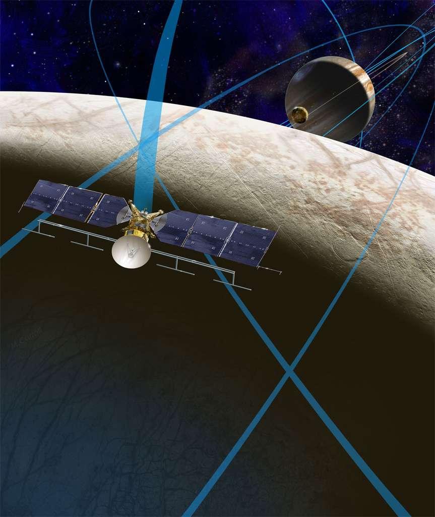 Dans son dernier budget, celui de 2016, la Nasa a obtenu du Congrès américain les fonds nécessaires à la poursuite du développement de la mission Europa Clipper. Outre une caméra de très belle résolution, cette sonde devrait embarquer un radar sondeur, un spectromètre infrarouge et un spectromètre de masse neutre. © Nasa, JPL