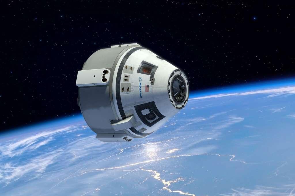 La capsule CST-100 de Boeing sera utilisée pour transporter des astronautes de la Nasa mais également des touristes spatiaux suffisamment fortunés pour s'offrir un séjour à bord de la future station de Bigelow Aerospace. © Boeing