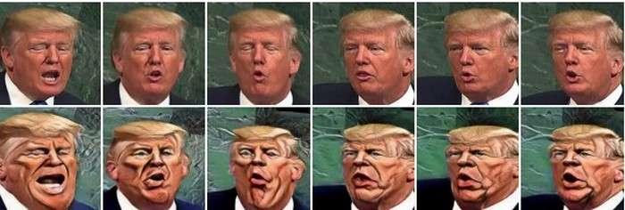 La caricature du président Trump est tout à fait convaincante. © DP