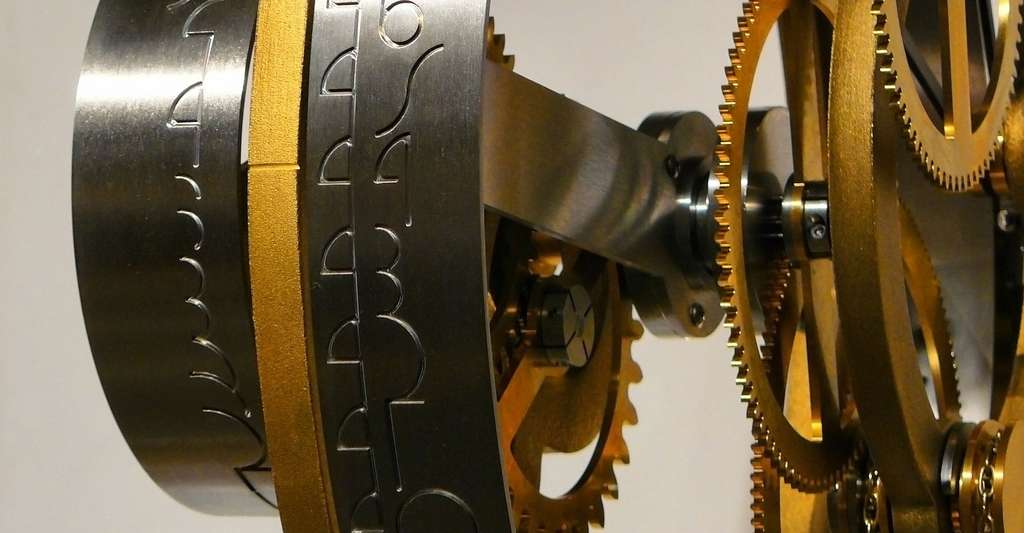 Engrenages de montre à quartz. © Epicantus - Domaine public