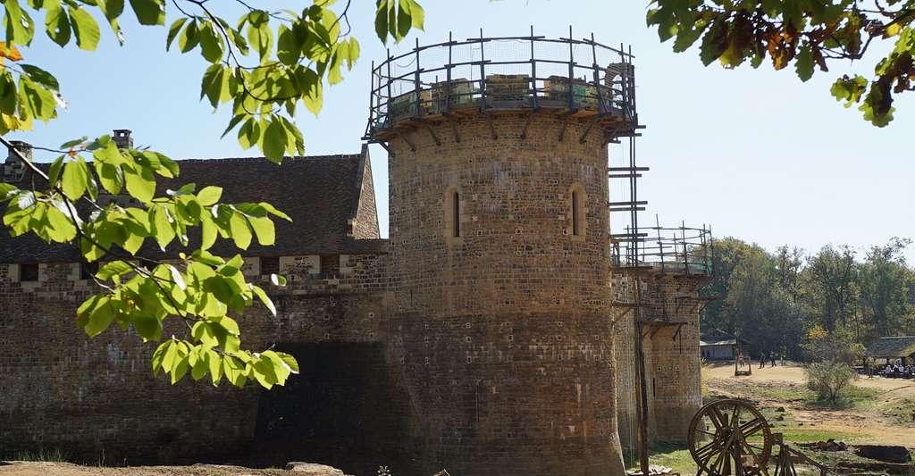 Vue tour de la chapelle, 2017. © Guédelon - Tous droits réservés