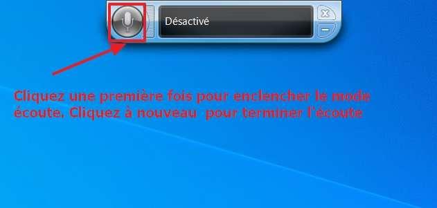 Vous pouvez commencer à vous servir du module de reconnaissance vocale. © Microsoft