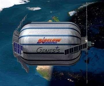 Le module Genesis 1, qui doit décoller aujourd'hui (Crédits : Bigelow Aerospace)