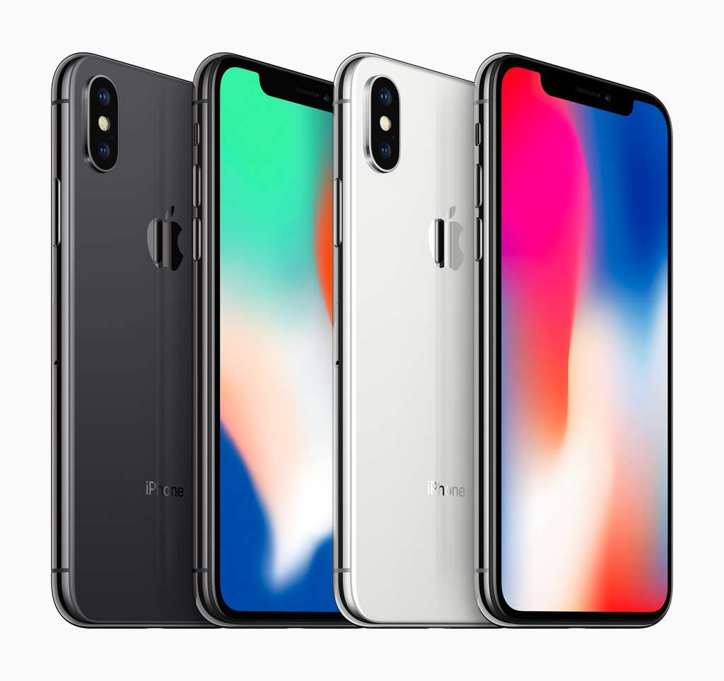 iPhone X : un grand écran et une grande encoche. © Apple