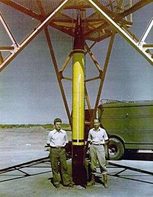La Wac-Corporal (diamètre 30 cm, hauteur 7,30 m). Crédit : US Army
