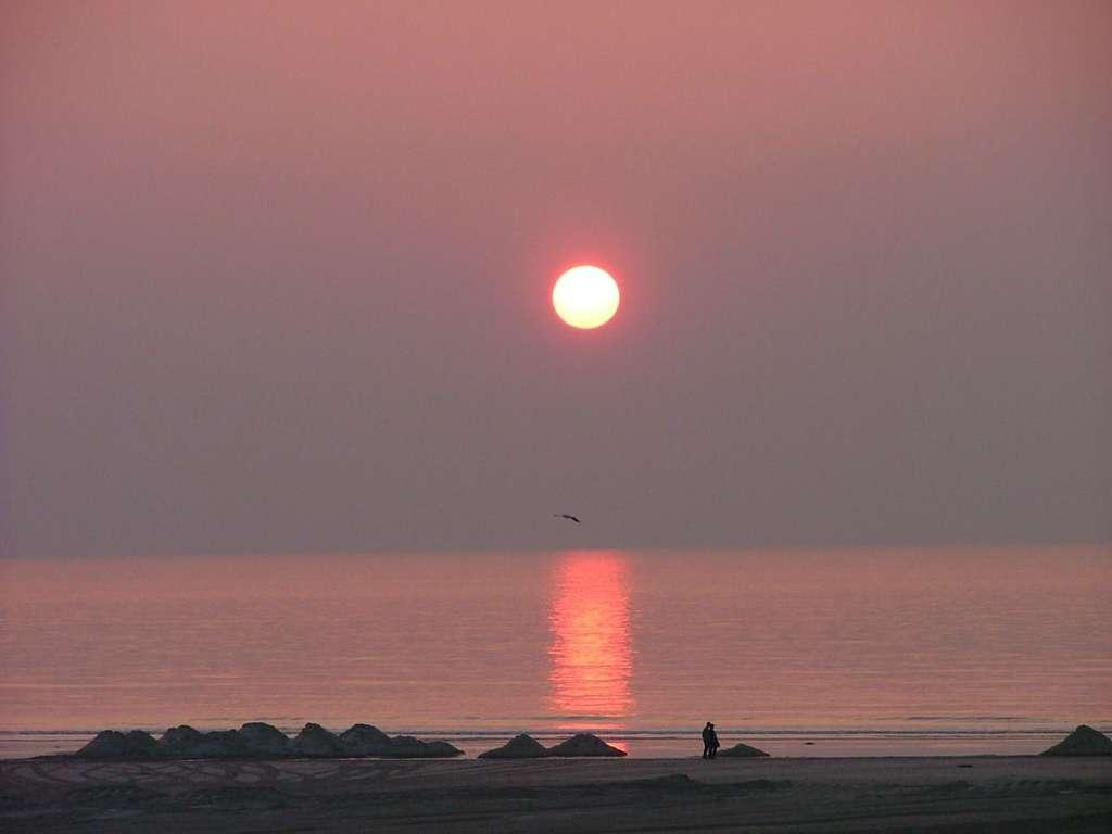 Coucher de soleil à Berck sur mer