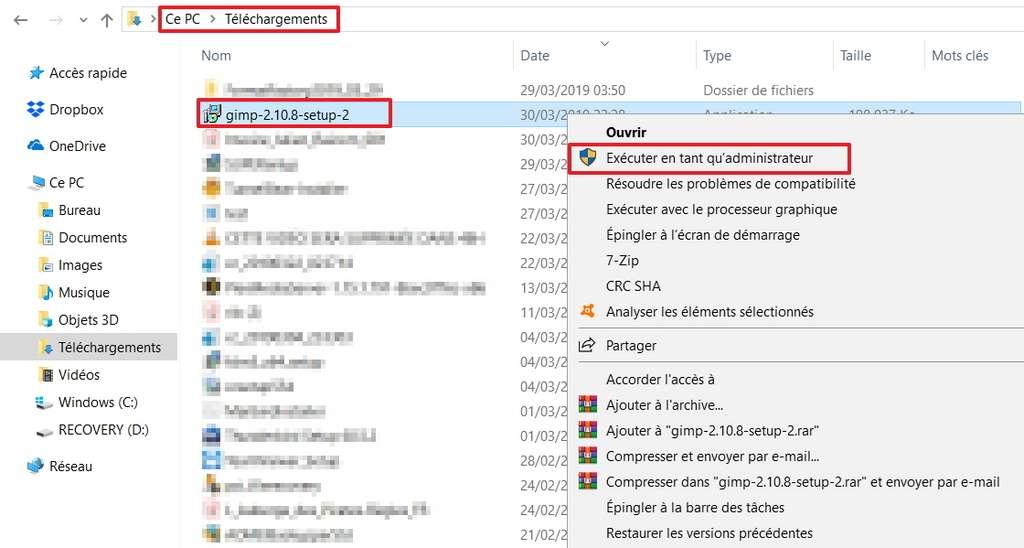 Lancez le fichier d'installation. © Microsoft