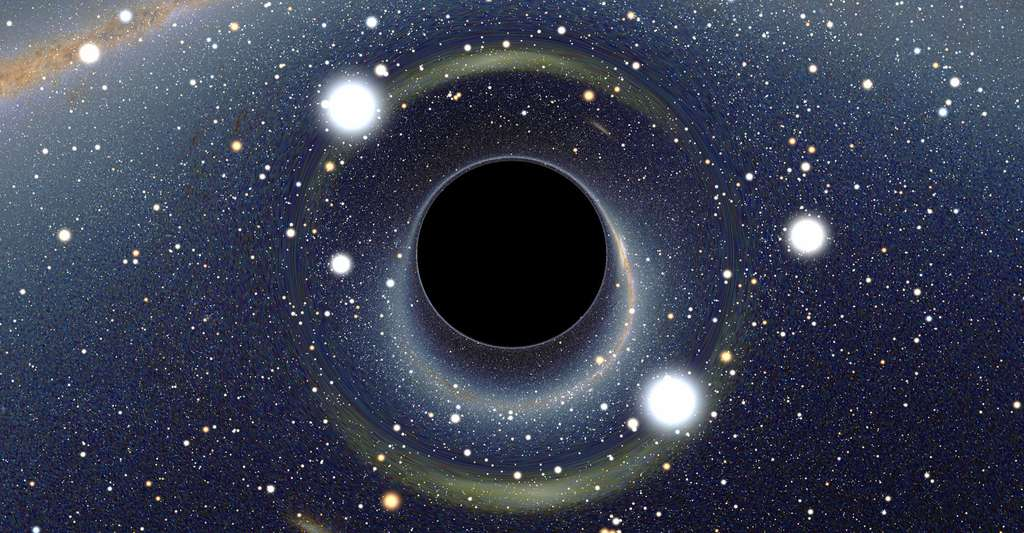 Découvrez le livre de Jean-Pierre Luminet sur l'infini. Ici, représentation d'un trou noir. © Alain R, Wikimedia Commons, CC by-sa 2.5