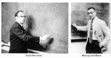 Les deux créateurs de la théorie des quarks, Ne'eman et Gell-Mann, au début des années 1960. © Universe-review