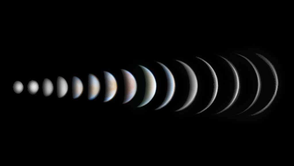 Les différentes phases de Vénus. © Roger Hutchinson, IAPY 2017
