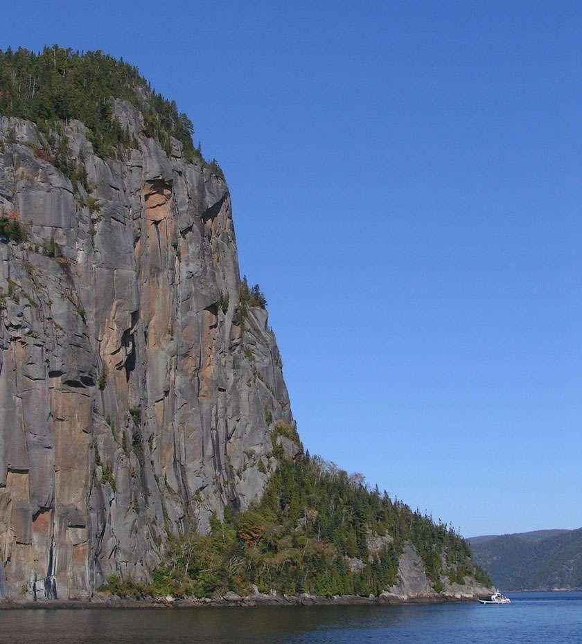 Vue du cap Trinité surplombant le Saguenay (face est). © reivax, cc by sa 2.0