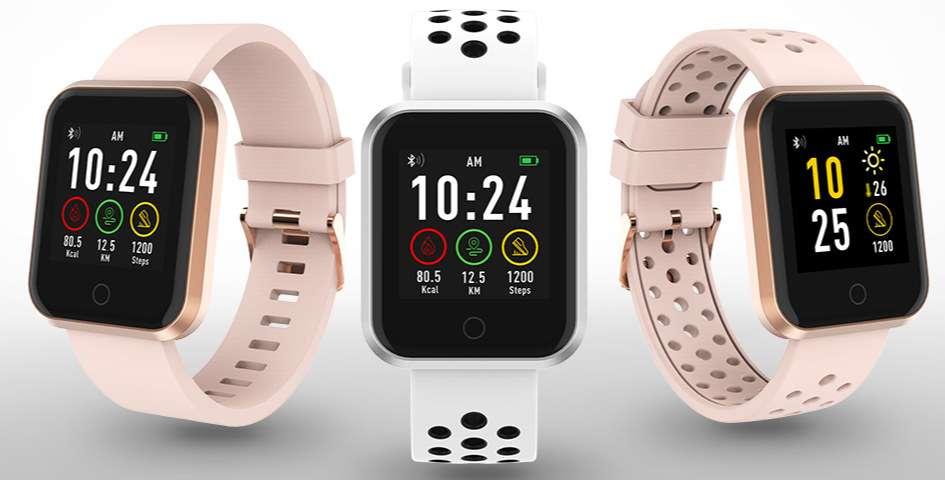 En Chine, avec un bracelet légèrement différent, la montre Lidl apparaît sous la marque Synergy. © Lidl