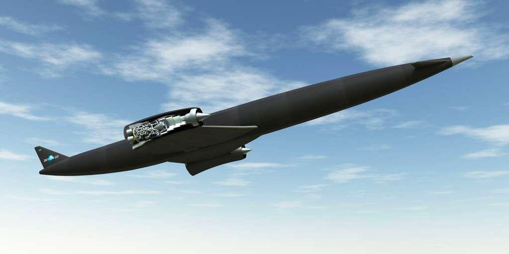 Le projet d'avion spatial Skylon propulsé par un moteur hypersonique Sabre. © ESA, Reaction Engines