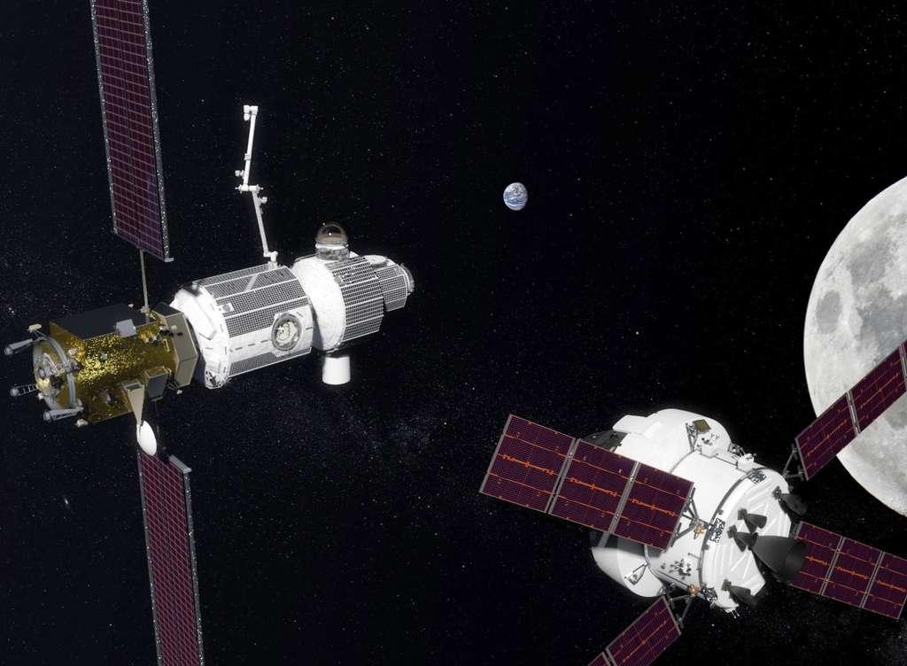 Le Deep Space Gateway est un projet de station proche de la Lune. © Nasa