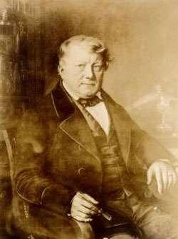 Figure 2 : Le chimiste Allemand Christian Schönbein, découvreur de l'ozone en 1839.