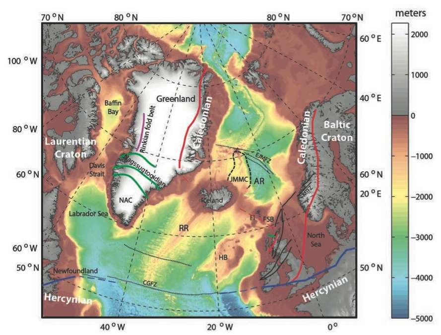 L'Islande serait un morceau de Pangée de 45.000 km2, qui se serait étiré entre la Scandinavie et le Groenland. © Geological Society of America