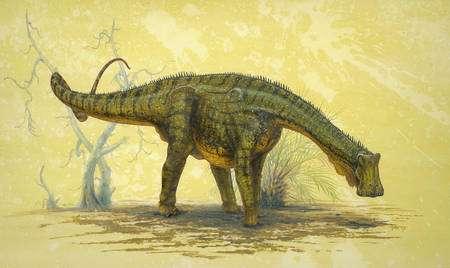 """Reconstitution du Nigersaurus, le """"lézard du Niger"""". Cliquez pour agrandir. Crédit : Todd Marshall, National Geographic"""