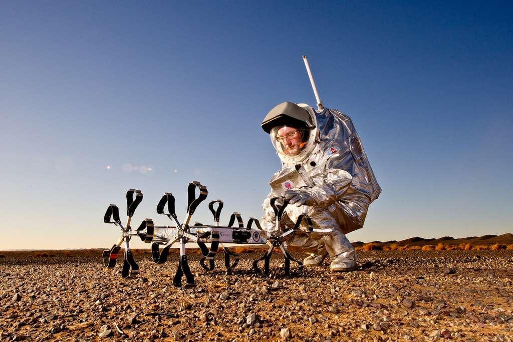 Une équipe hongroise et son prototype de rover lunaire en course pour gagner le Google Lunar X Prize. © ÖWF, Katja Zanella-Ku
