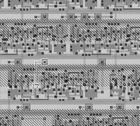 Schéma (fragmentaire) de la puce réalisée par Friedman. Partie inférieure. Crédit MIT