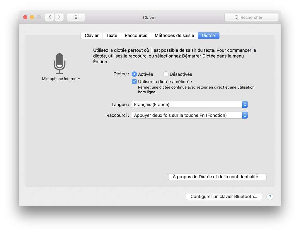 Activer la dictée vocale dans macOS. © Futura