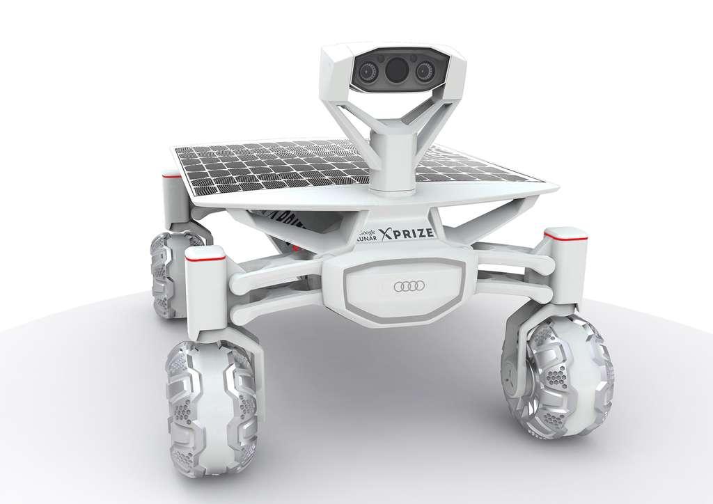 L'Audi Lunar Quattro doit permettre à Audi d'explorer de nouvelles voies technologiques et d'en apprendre beaucoup sur la façon dont se comportent les composants automobiles dans des conditions extrêmes. © Audi, Part-Time-Scientists