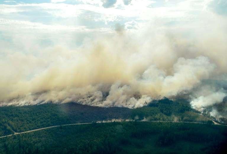 Incendies de forêts près de Ljusdal, en Suède, le 18 juillet 2018. © Maja SUSLIN, TT News Agency, AFP