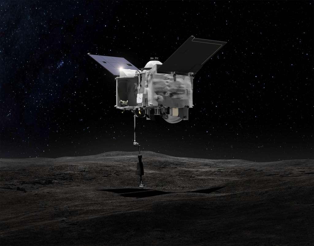 Avec Osiris-Rex, la Nasa souhaite rapporter sur Terre de la poussière et des petits cailloux de la surface de l'astéroïde Bennu. © Nasa