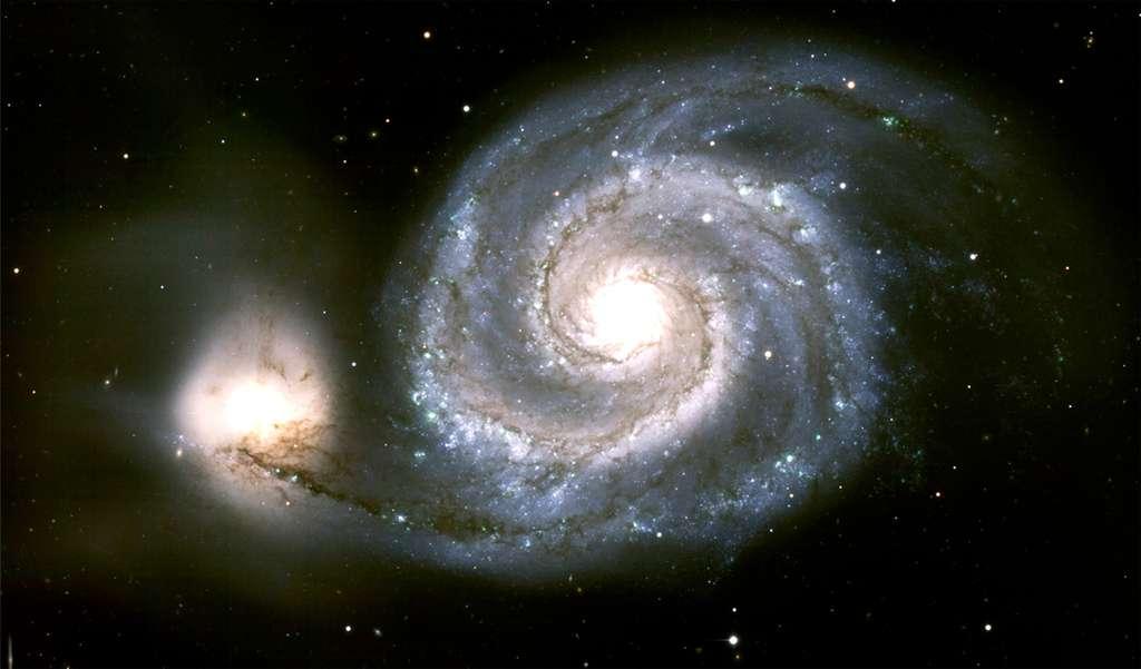 Le temps d'observation des deux instruments du futur télescope au pôle sud de la Lune sera commercialisé, bien que des programmes scientifiques et à destination du grand public soient prévus pour être gratuits. À l'image, la galaxie M51, plus communément appelée galaxie du Tourbillon. © K. Rhode, M. Young, WIYN, NOAO, Aura, NSF