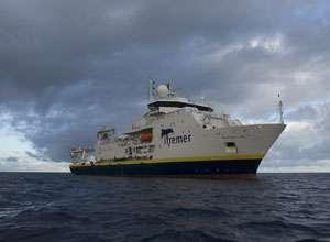 Le Pourquoi pas ?, un des navire océanographiques exploités par l'Ifremer (Institut français de recherche pour l'exploitation de la mer). © Ifremer