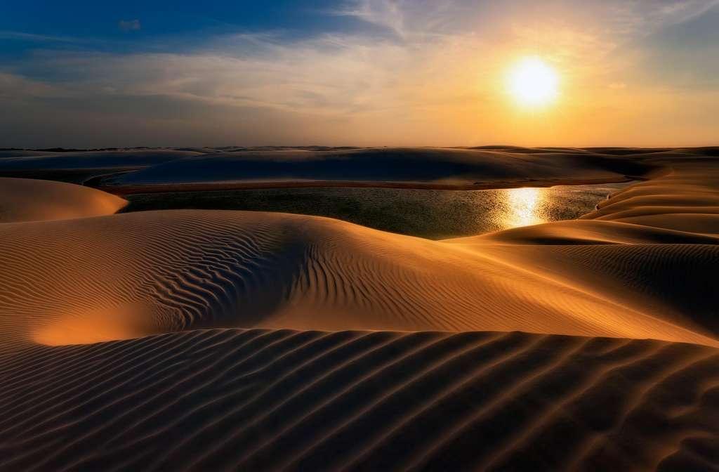 Les lagons d'eau douce du désert