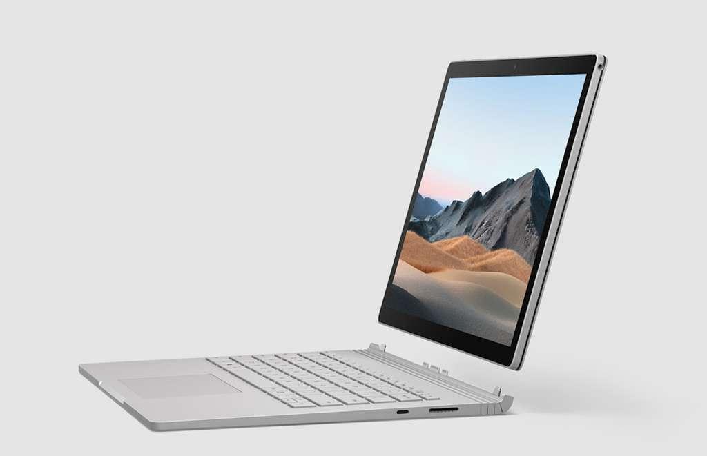 La gamme Surface de Microsoft est en promo ! (Ici, Surface Book 3). © Microsoft