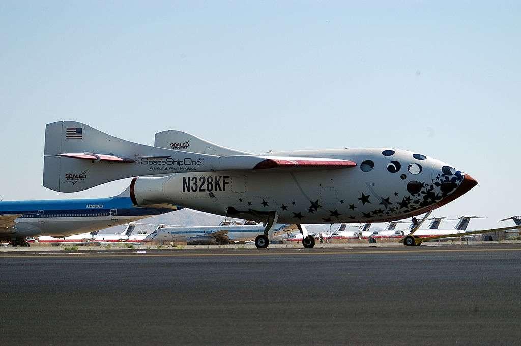 L'Ansari X-Prize a récompensé en 2004 l'avion suborbital SpaceShipOne dans l'optique du tourisme spatial. © Ansari X-Prize