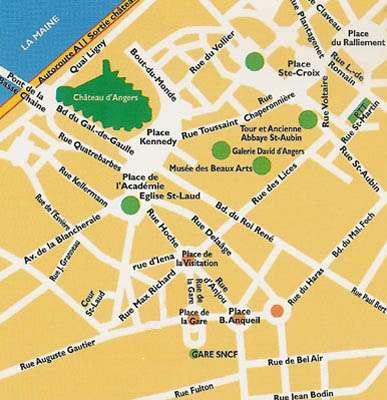 Plan d'Angers, le centre ville