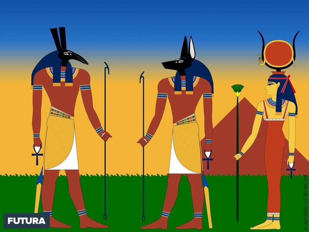 Seth, Anubis, Hathor Egypte