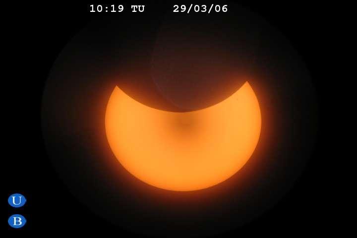 Eclipse partielle à Barcelone