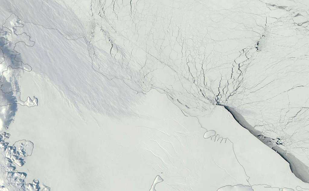 La barrière de Larsen C en 2012. © Nasa