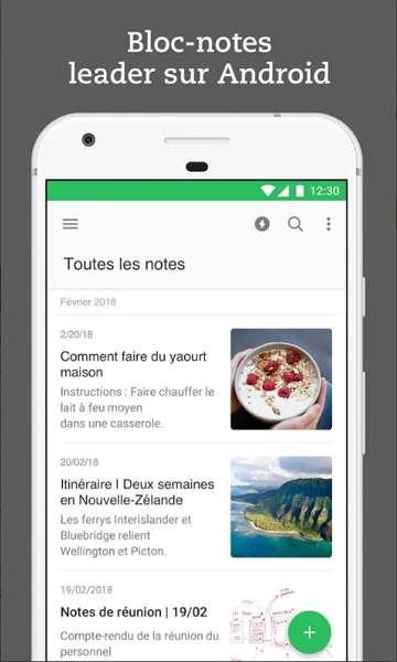 Evernote est l'outil d'organisation et de planification le plus populaire sur Android. © Evernote Corporation