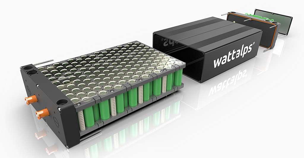 Une vue éclatée de la batterie lithium-ion mise au point par WATTALPS. © WATTALPS