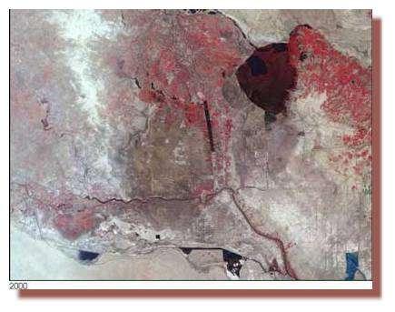 Vue par satellite des marais en 2000 - Nasa