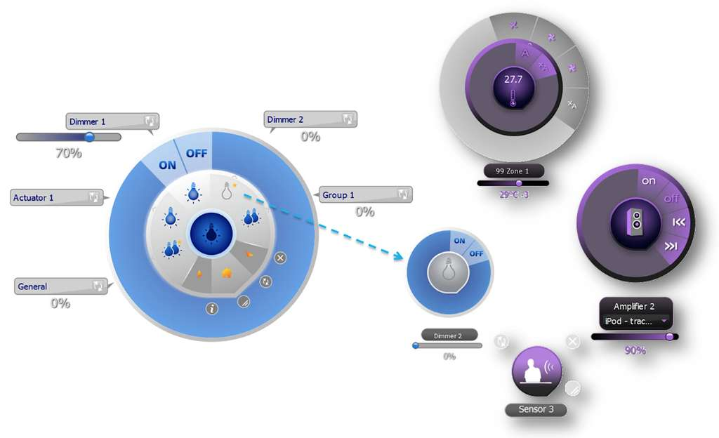 L'application Supervision Gadget existe en deux versions distinctes à choisir selon la marque du système domotique installé, en l'occurrence BTicino ou Legrand. © myopen-legrandgroup.com