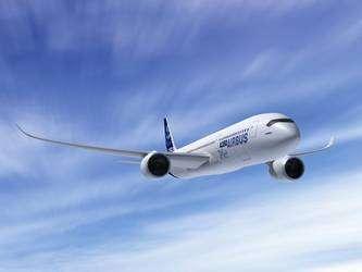 Vue d'artiste du futur biréacteur A350 XWB (cliquer sur l'image pour l'agrandir). © Airbus