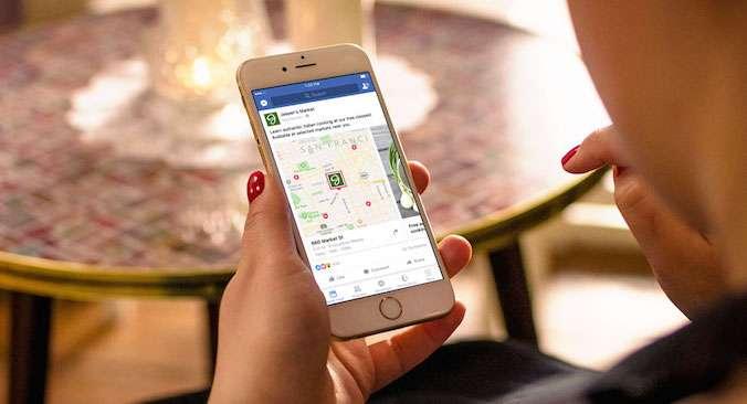 Les enseignes commerciales qui annoncent sur Facebook pourront intégrer dans leurs réclames des cartes pour guider les internautes vers leur point de vente le plus proche. © Facebook