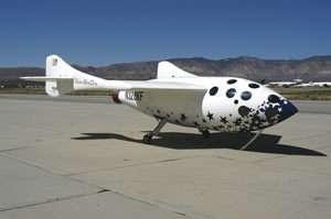 © Scaled Composites - Le SpaceShipOne reste pour l'instant le favori de la compétition suborbitale)