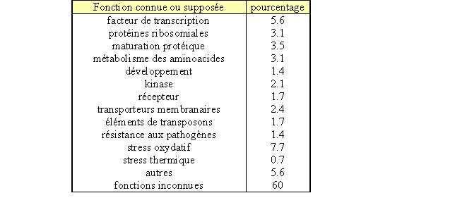 Tableau 6. répartition du consensus tgcagc en fonction du type de promoteur
