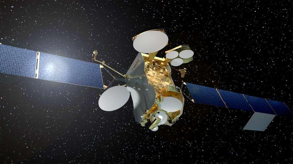 D'une masse au lancement de 3,5 tonnes et d'une puissance de 13 kW, Eutelsat 172B sera lancé par Ariane 5 en position basse (un satellite sera au-dessus de lui). Il mettra quatre mois pour rejoindre sa position géostationnaire. © Airbus Espace