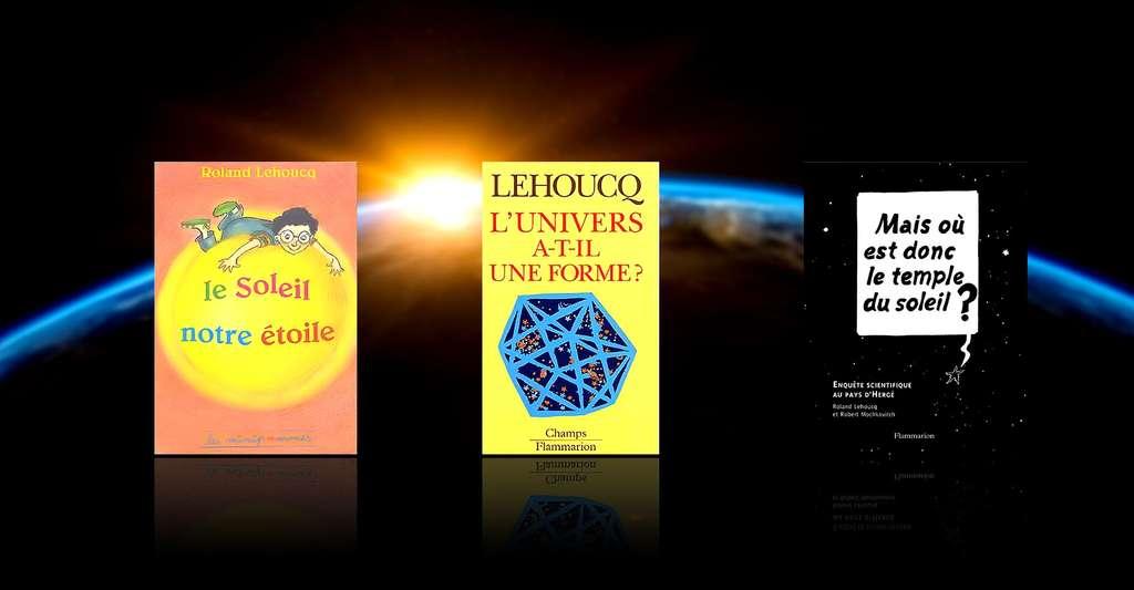 Quelques livres de Roland Lehoucq. © DR