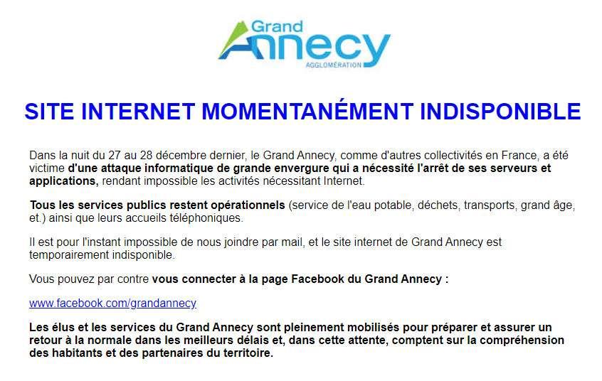 À Annecy, les habitants sont invités à se connecter sur Facebook pour suivre l'activité de l'agglomération. © Futura