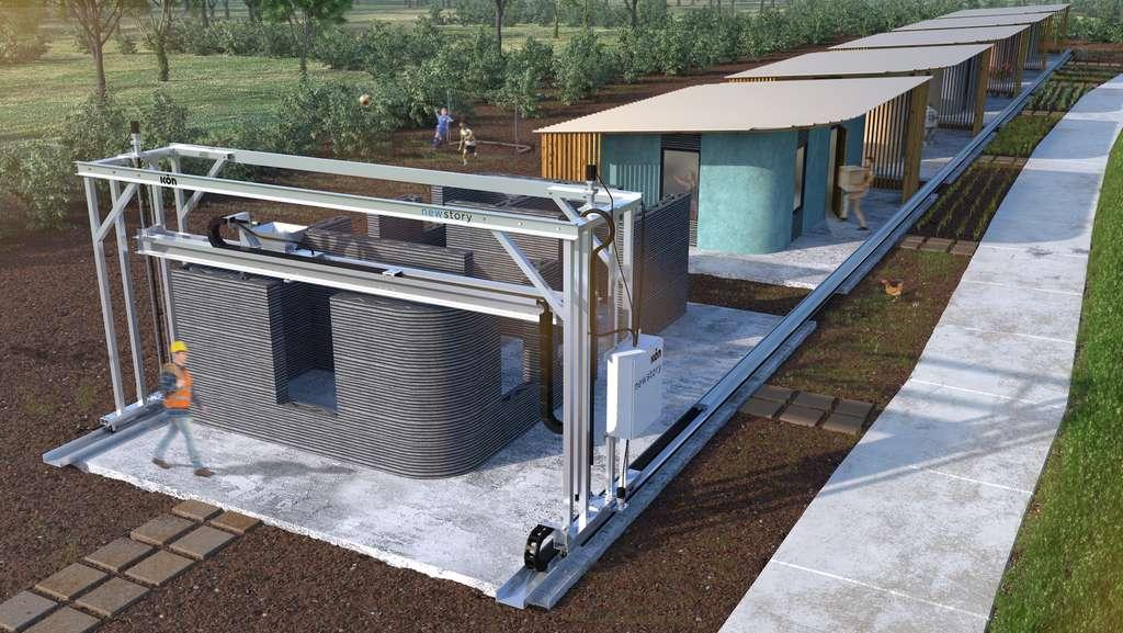 Cette maison imprimée en 3D veut répondre à la crise du mal-logement. © ICON